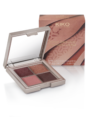 kiko color seduction eyeshadow palette 02 sensuous burgundy