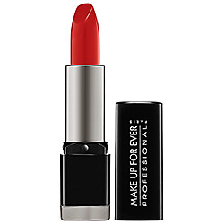 mufe Rouge Artist Intense lipstick in satin vermilion red from Make Up Forever