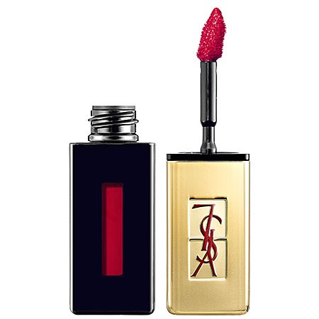 yves saint laurent rouge pur couture - vernis a levres glossy stain n11 rouge gouache