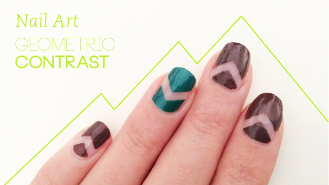 Nail Art Speedy Tutorial: Geometric Contrast