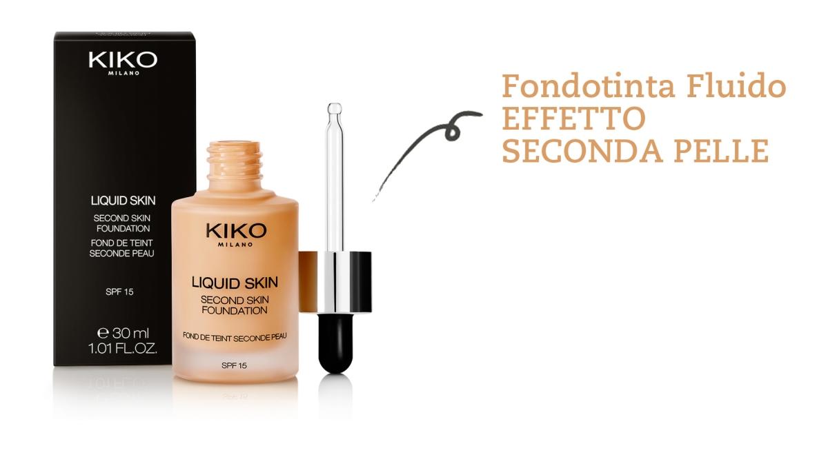 Kiko Liquid Skin - Fondotinta Effetto Seconda Pelle