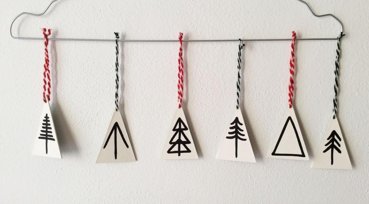 How to: Alberelli Stilizzati da Appendere all'Albero di Natale